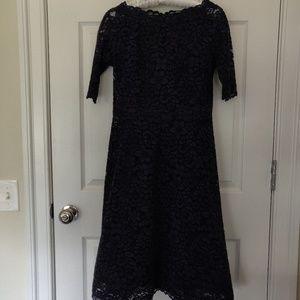 Teri Jon Dresses - Teri Jon Navy Lace Dress